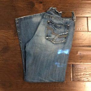 MENS Big Star distressed blue jeans